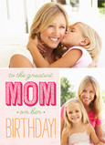 Greatest Mom Birthday 5x7 Folded Card
