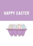 Easter Eggs 5x7 Folded Card
