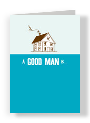 Good Man Anniversary 5x7 Folded Card