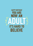 Now Adult Birthday 5x7 Folded Card