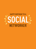 Social Networker Birthday 5x7 Folded Card
