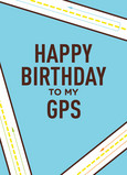 Happy Birthday GPS 5x7 Folded Card