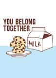 Milk Cookies Engagement 5x7 Folded Card