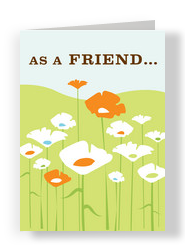 Transcend Friend Flowers 5x7 Folded Card