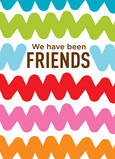 Colorful Friends Cords 5x7 Folded Card