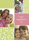 Three for Mom 5x7 Folded Card