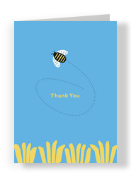 Bee Thankful 5x7 Folded Card