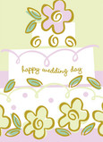 Wedding Day Flowers 5x7 Folded Card