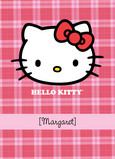 Pink Plaid Hello Kitty 5x7 Folded Card