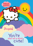 Rainbow Hello Kitty 5x7 Folded Card