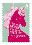 Sweet Unicorn Love 5x7 Folded Card