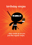 Birthday Ninjas 5x7 Folded Card