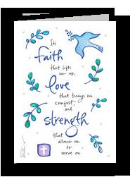 Dove of Faith 5x7 Folded Card