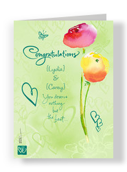Two Flower Congrats 5x7 Folded Card