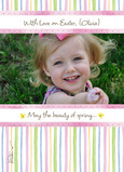 Pink Stripe Easter 5x7 Folded Card