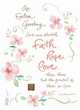 Faith Hope and Love 5x7 Folded Card