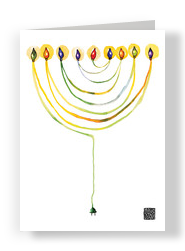 Menorah 5x7 Folded Card