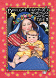 Starry Baby Jesus 5x7 Folded Card