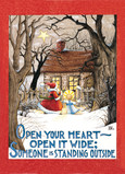 Open Heart Santa 5x7 Folded Card