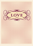 Stylish Love You 5x7 Folded Card