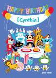 Paul Frank Birthday Party 5x7 Folded Card