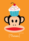 Paul Frank Cupcake 5x7 Folded Card