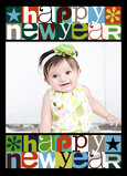 Double Happy New Year 5x7 Folded Card