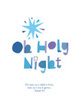 Cut Tissue Holy Night 5x7 Folded Card