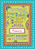 Birthday by Name 5x7 Folded Card