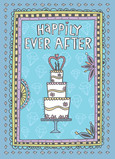 Happily Ever After Couple 5x7 Folded Card