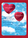 Heart Balloons 5x7 Folded Card