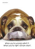 Dogs Sealed Lips 5x7 Folded Card