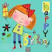 Patchwork Birthday 4.75x4.75 Folded Card