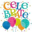 Balloon Celebrations 4.75x4.75 Folded Card