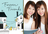 Forever Friends 7x5 Folded Card