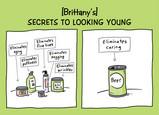 Young Secrets 7x5 Folded Card