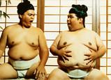 Sumo Wrestlers Birthday 7x5 Folded Card