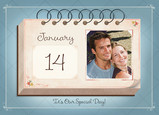 Calendar Page 7x5 Folded Card