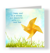Pinwheel Soul 4.75x4.75 Folded Card