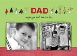 Dad Christmas Blocks 7x5 Folded Card