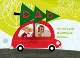 Christmas Tree Transport 7x5 Folded Card