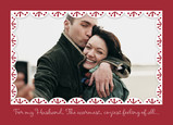 Red Christmas - Husband Photo Frame 7x5 Folded Card