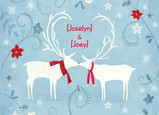 Christmas Reindeer Love 7x5 Folded Card