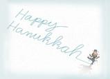 Happy Hanukkah Skater 7x5 Folded Card