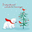 Polar Bear Holidays 4.75x4.75 Folded Card