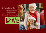 Warmth and Love Photo 7x5 Folded Card