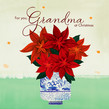 Grandma Poinsettias 4.75x4.75 Folded Card
