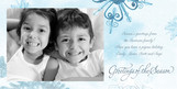 Crystal Snowflake Greetings 8x4 Flat Card