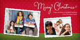 White Border Christmas 8x4 Flat Card