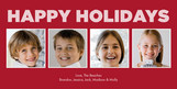 Block Holiday Stripes 8x4 Flat Card